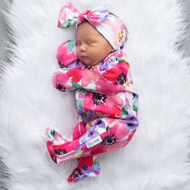 Hair Accessories Aggressive Baby Toddler Girls Pink Floral Bowknot Hairband Turban Headband A Great Variety Of Models