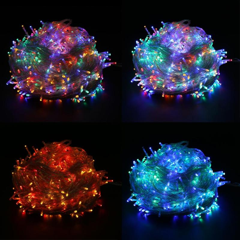 50/100M 400/800 LED Light Strings Christmas Tree Decoration String Lights Outdoor Fairy String Lamp Party Decor Lighting