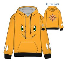 Hot  Anime S Digimon Adventure Cosplay Hoodies Standard Hooded Winter digimons Tops Unisex funny Sweatshirts
