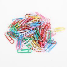 100 шт./компл. 28 мм Красочные Бумага скрепки для бумаги зажимы примечания к категории зажимы верхняя нарядная одежда для мальчиков студентов школьные канцелярские принадлежности