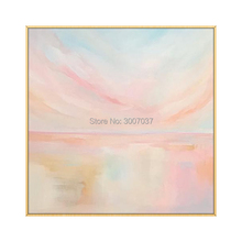 Hand Painted Modern Colorful Sea Oil Painting Scenery Canvas Wall Decor Landscape For Room On
