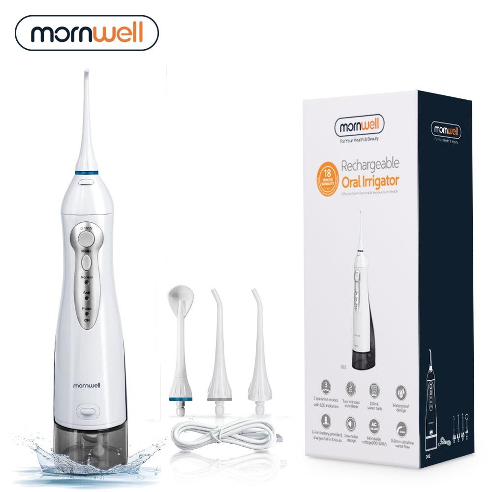 Oral Irrigator USB Rechargeable Water Flosser Portable Dental Water Jet 300ML Water Tank Waterproof Teeth Cleaner 1