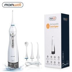 Oral Irrigator USB Rechargeable Water Flosser Portable Dental Water Jet 300ML Water Tank Waterproof Teeth Cleaner
