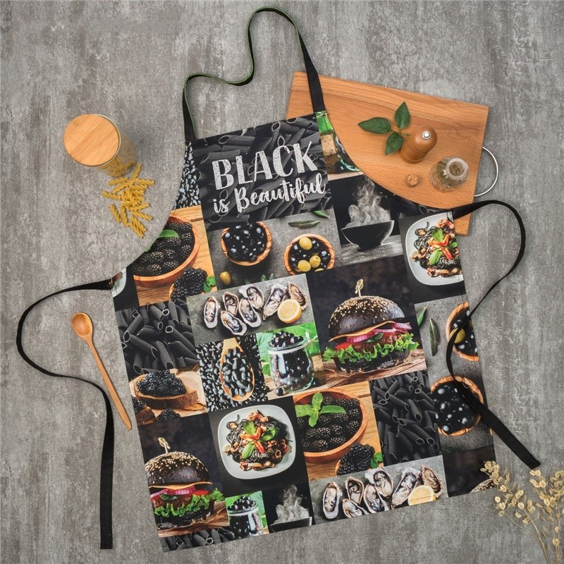 Apron Ethel BLACK 60х70 cm cm, 100% CHL, twill 190 C/m2 4136525 towel ethel ренесанс type 2 40х73 cm 100% chl twill 190 c m2 4136513