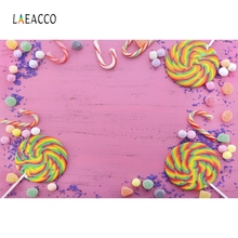 Laeacco Colorful Candy Baby Girl Backdrop Photography Backgrounds Customized Photographic Backdrops For Photo Studio