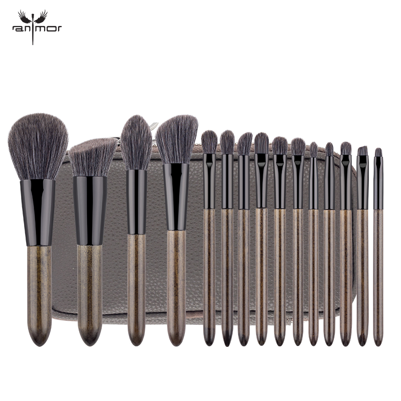 Anmor New Make Up Brush Professional Makeup Brushes Set High Quality Synthetic Hair Eyeshadow Eyebrow Blending Foundation KitAnmor New Make Up Brush Professional Makeup Brushes Set High Quality Synthetic Hair Eyeshadow Eyebrow Blending Foundation Kit