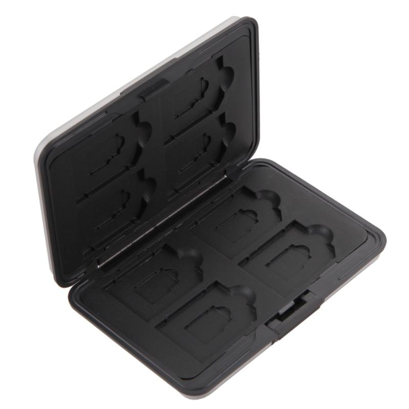 16 slots <font><b>Micro</b></font> <font><b>SD</b></font> Card Holder Plastic SDXC <font><b>Storage</b></font> Holder Memory Card Case Protector for <font><b>SD</b></font>/ SDHC/ SDXC/<font><b>Micro</b></font> <font><b>SD</b></font> cards Silver image