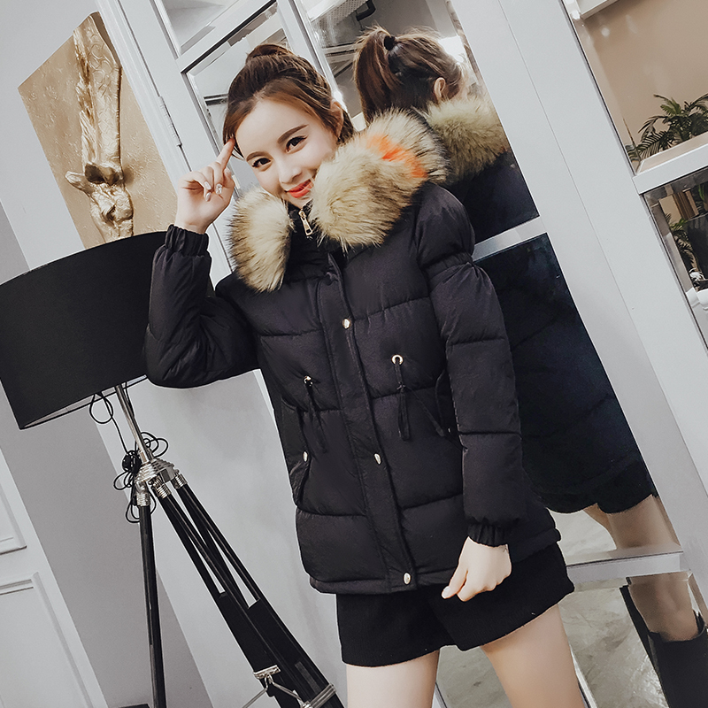 xl Beige Dames D'hiver Rembourré Doublure S Coton Manteaux 2018 Veste Parka Artificielle Collier Femmes Red Épais Manteau Style Femelle dark black Nouveau UpnqWBTg