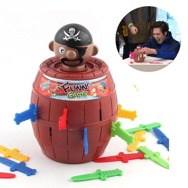 Outdoor Funny Gadget Pirate Barrel Game Toys For Children Lucky Stab Pop Up Toy For Outdoor Camping Toys