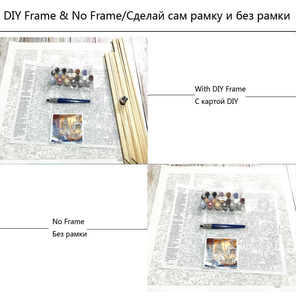 الطلاء بواسطة أرقام أطر التلوين بواسطة أرقام صور ديكور المنزل قماش اللوحة بواسطة أرقام ديكورات RSB8265