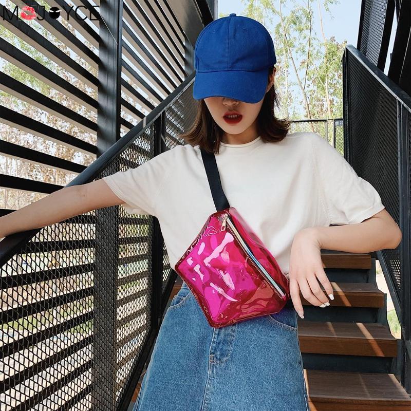 Women Casual Fanny Pack Transparent Waist Belt PVC Chest Bag Fashion Women Hip Pouch Cute Girl Soild Color Wild Waist Bag