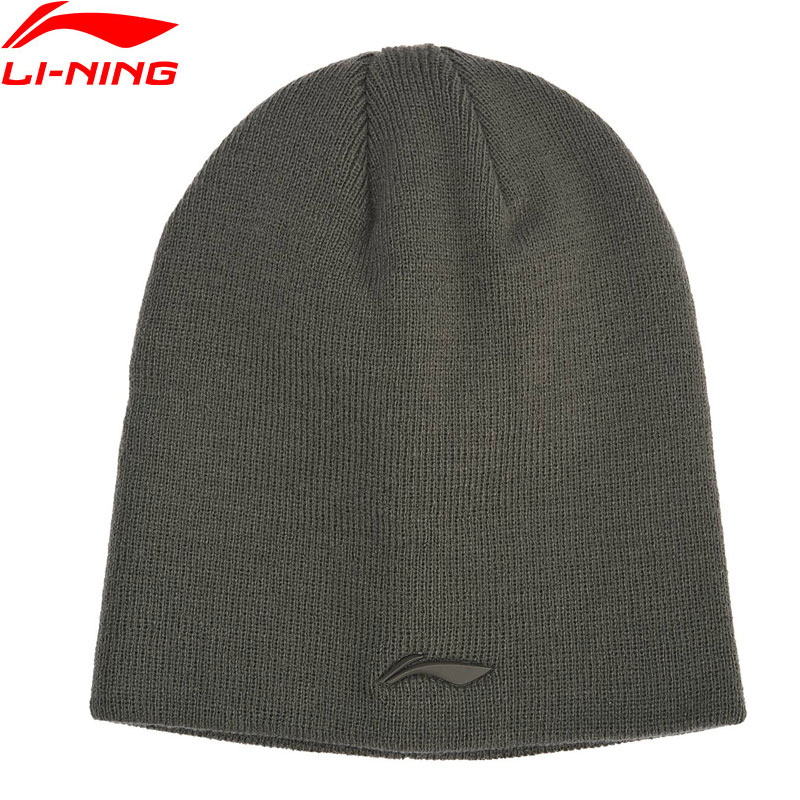 Li-Ning Unisex The Trend Knitted Hat 100% Acrylic 21cm Warm LiNing Winter Sports Caps Hats AMZN044 PMM320