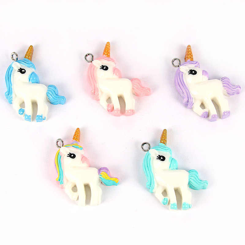 15pcs Mixed Multi-style Resin Dream Cute Unicorn Charms Pendant For  Child DIY Necklace Bracelet Jewelry Accessories