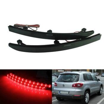 цена на ANGRONG 2x Black Smoked Lens Rear Bumper Reflector LED Tail Brake Stop Light For VW Tiguan 08+