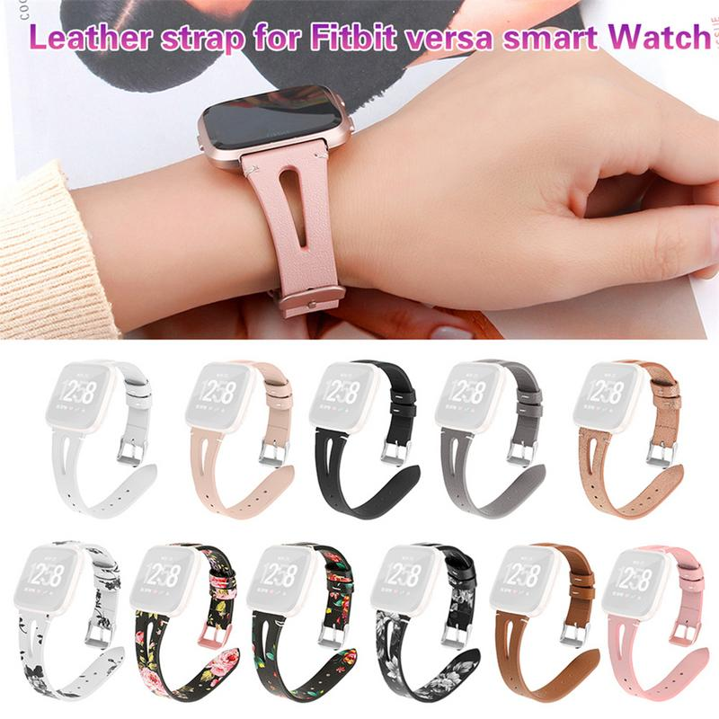 2019 New Fashion Match Replacement Watch Band Leather Wrist Watchband Strap Bracelet Belt For Fitbit Versa Lite Watch Wristband