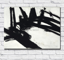 Large Size Abstract Painting Franz Kline Untitled 1957 Oil Art Home Decor Living Room Modern Canvas Paintings No Frames