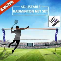 Sport di Badminton Tennis Pallavolo Netto Portatile Altezza Larghezza Adujstable Battledore Set Netto Telaio di Supporto Del Basamento di Caso di Immagazzinaggio