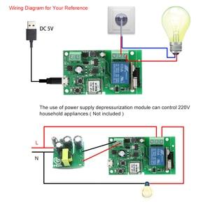 Image 3 - EWeLink USB DC5V 12 V 24 V 32 V RF 433 Mhz Wifi מתג אלחוטי ממסר חכם בית אוטומציה מודולים שליטה התקדם/עצמי נעילה