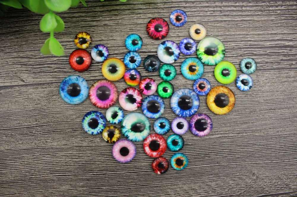 20Pcs/lot Glass Doll Eye Colorful Eyeballs DIY Crafts for Baby Dolls Toys Dinosaur Animal Eyes for Dolls Accessories 10/16/20mm