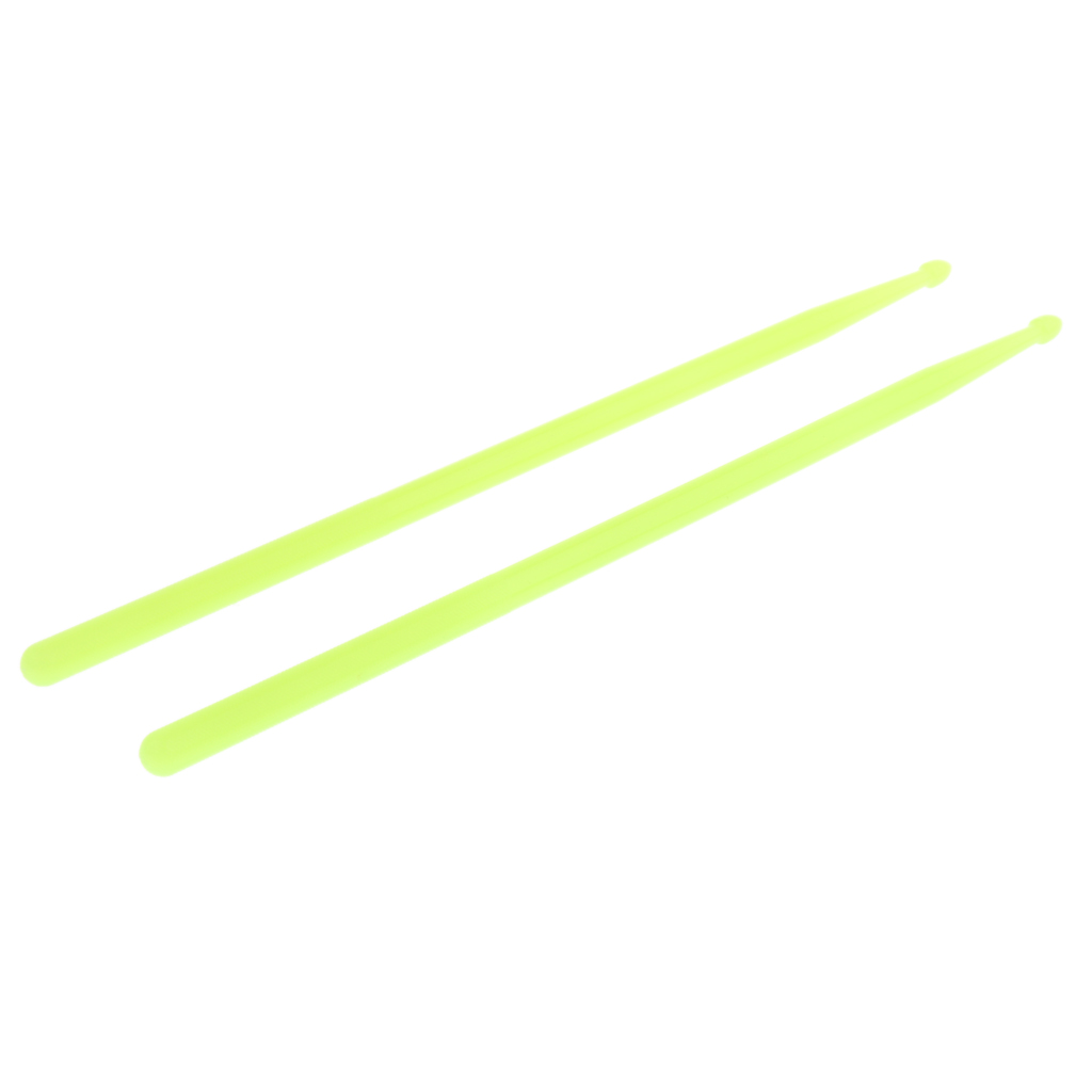 Купить с кэшбэком Finest 2x 5A Polyester Fiber Luminous Drum Sticks Glow In The Dark for Drum Player 41.2 x 1.4cm