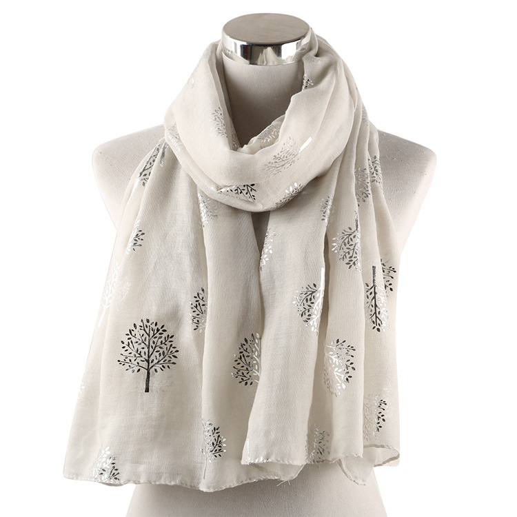 OLOME Fashion Women Glitters   Scarves   Shawl Female Foil Silver Shiny Viscose Hijabs   Scarf     Wraps   cotton hijab   scarf   2019