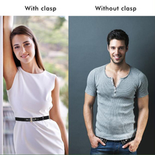 Women Men No Buckle Waist Belt Artificial Leather belt Simple Stretch Invisible belt Elastic Pants Dresses Jeans #30