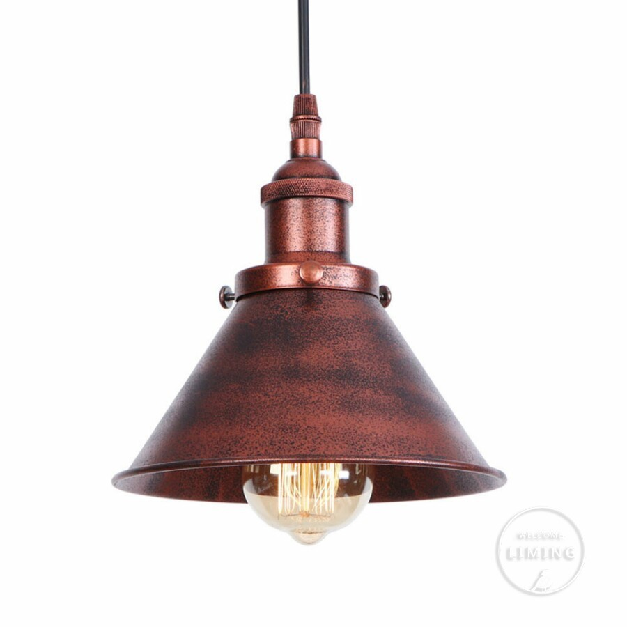 Rust Loft Vintage Industrial Pendant Light Nordic Retro Iron Lights Edison Lamp Lighting Fixture For Cafe Bar Home Lighting