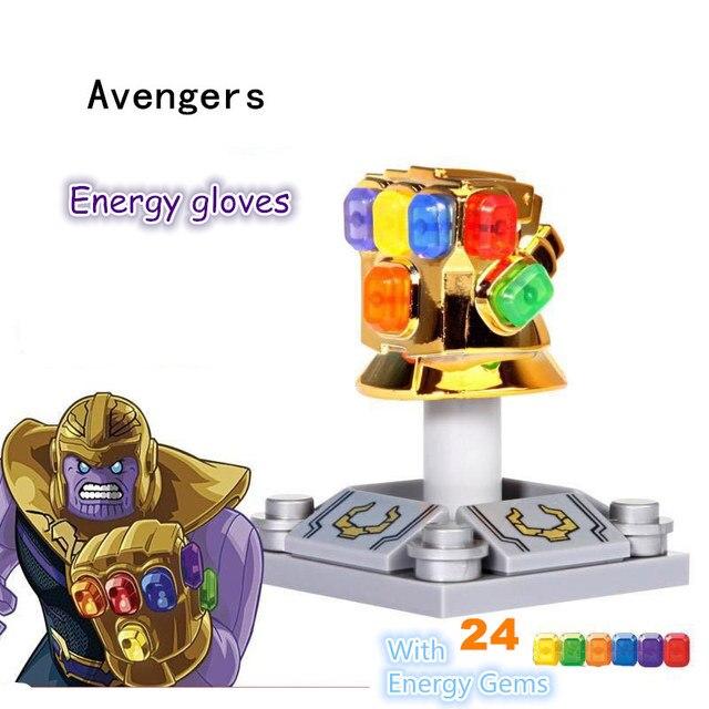 10 pcs Endgame Coleção Figuras de Super-heróis blocos de Construção Vingadores Thanos infinito chapeamento ilimitado luvas Crianças brinquedos de presente