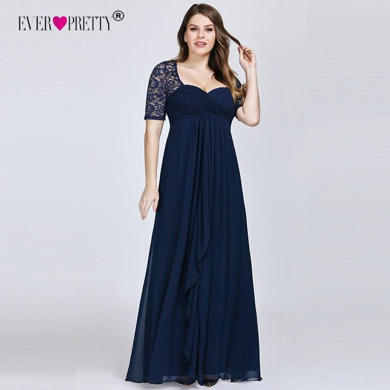 Navy Blue Mother Of The Bride Dresses Plus Size Elegant A Line Short Sleeve Wedding Party Gowns With Ruffles Madre De La Novia