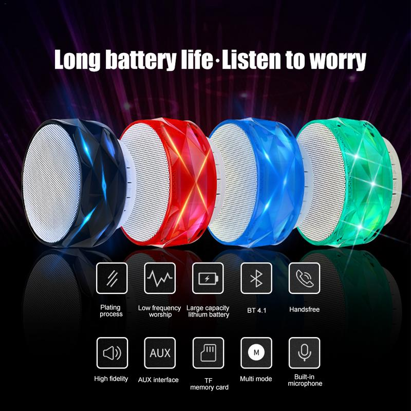 Image 5 - Portable Player Bluetooth Speaker Mini Wireless Bluetooth Subwoofer MP3 LED TF USB Stereo Sound Surrounding Outing Sports Device-in Portable Speakers from Consumer Electronics