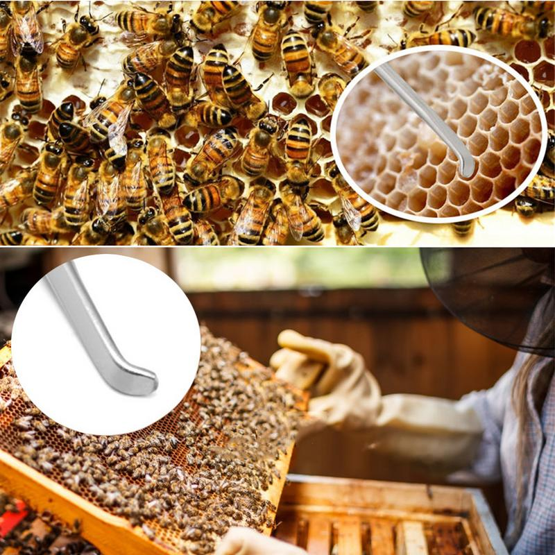 2-Head Bee Rear Transfer Stainless Needle Hive Queen Grafting Beekeeping Needle