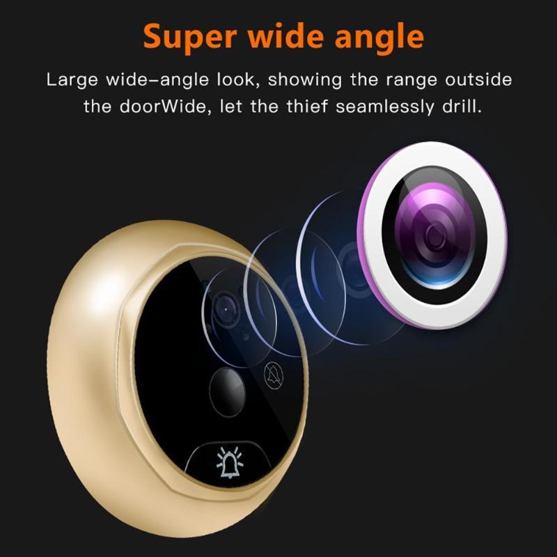 4.3 ''LCD numérique sonnette 145 degrés électronique porte visionneuse judas caméra porte cloche sans fil Support multiple format vidéo