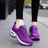 2018 Outdoor Women Shoes Purple Platform Sneakers Women Casual Shoes Breathable Damping Red Wedges Women Sneakers Tenis Feminino