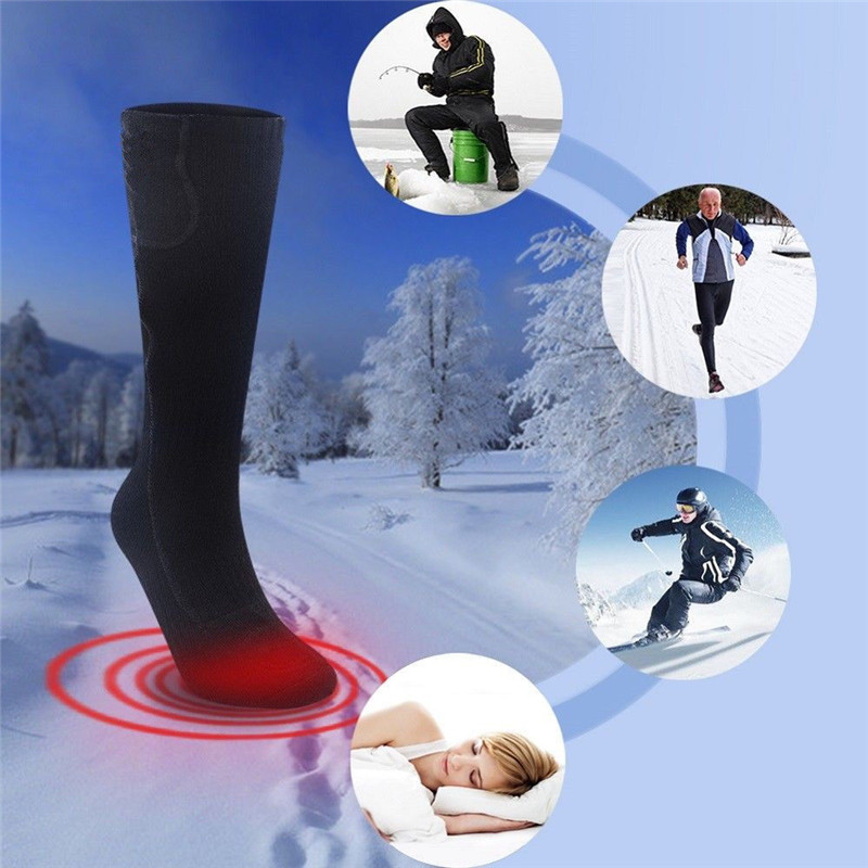 Details about  /5V USB Electric Heated Socks Feet Warmer Heater Ice Fishing Foot Shoe Boot Warm