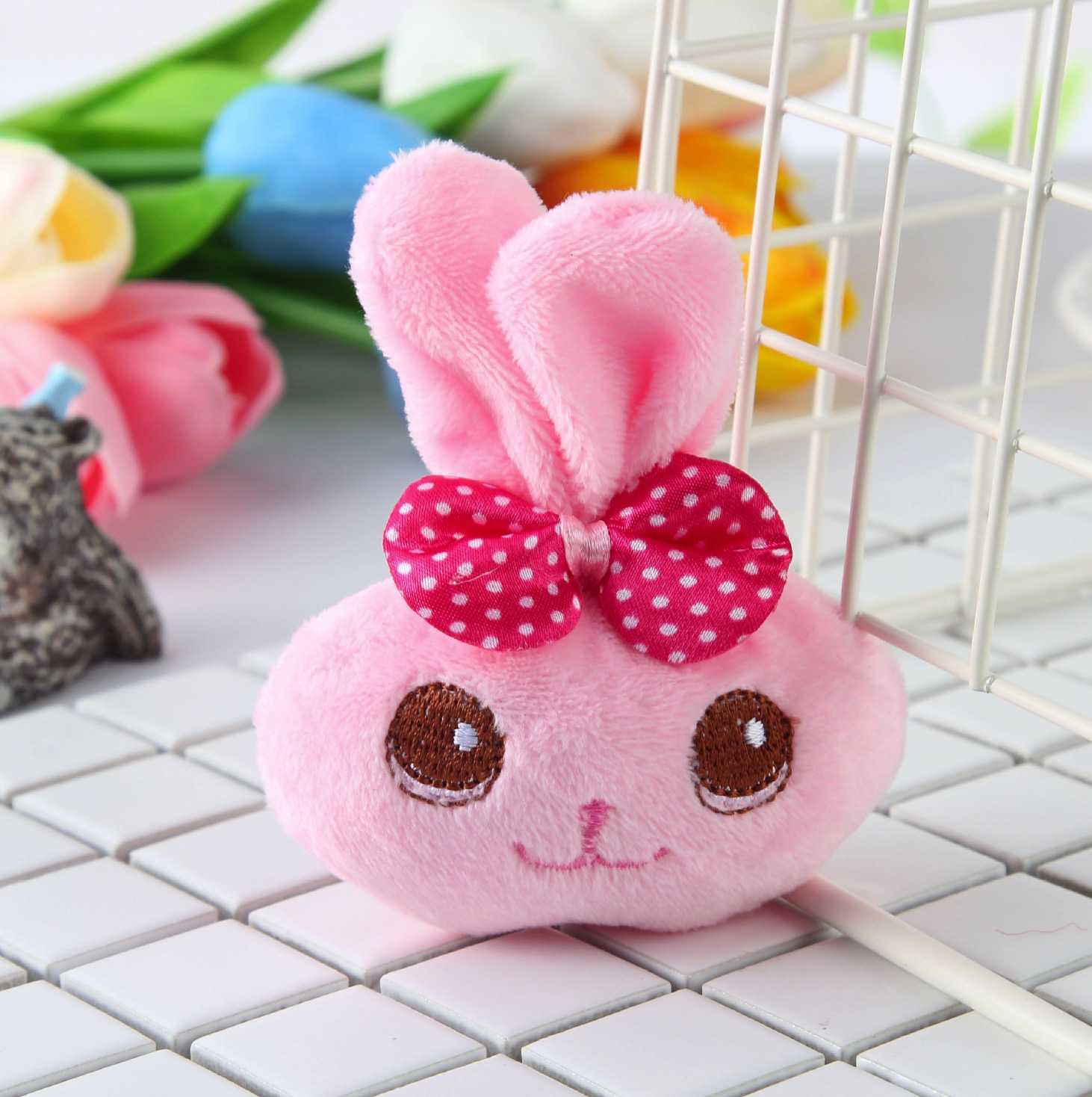 1piece random design cute little 9cm bowknot rabbit animals plush toys kawaii Plush Stuffed Toy Doll in Stuffed Plush Animals from Toys Hobbies