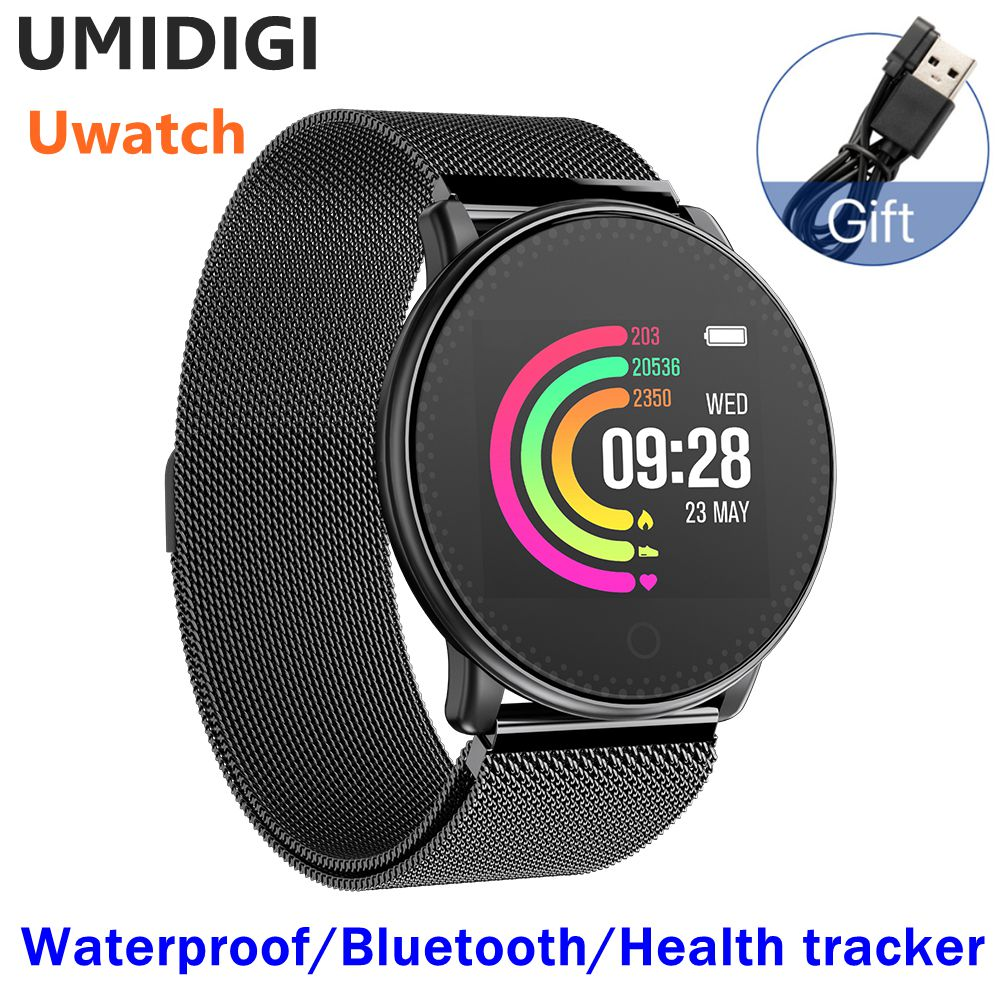 UMIDIGI Uwatch Smart Watch Heart Rate Sleep Monitor Passometer Fitness Tracker Waterproof Global Bracelet Watch For Andriod IOS