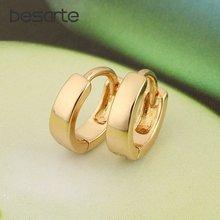 Женские серьги кольца besarte золотистые ювелирные изделия для