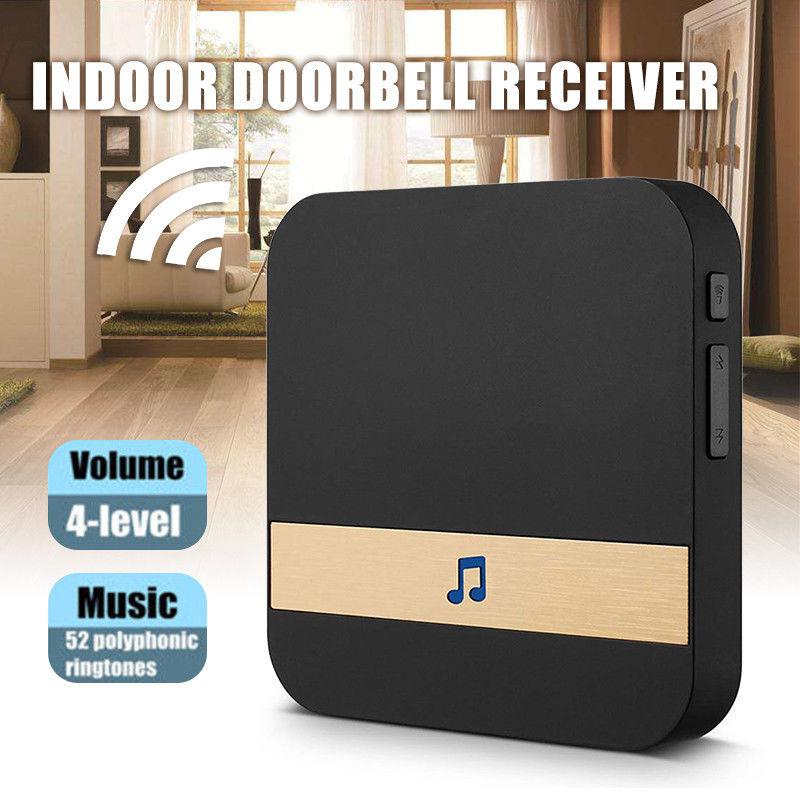 None AC 90V-250V 52 Chimes 110dB Wireless Doorbell Receiver Ding Dong Wifi Doorbell Camera Low Power Consumption Home Door