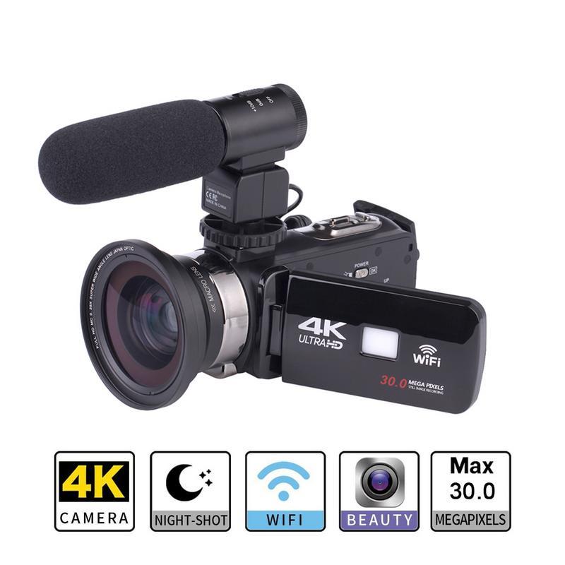 4 K Super définition appareil photo numérique extérieur mariage maison portable DV professionnel caméra de nuit pour caméra extérieure