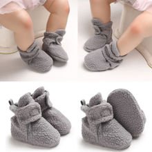 Newborn Toddler Baby Girl Boy Fleece Shoes Winter Warm Snow