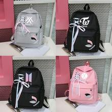 New Bts Exo Got7 Canvas Backpack Women Harajuku Kpop Monsta X Twice Bangtan Boy K-pop Bag Rucksacks Backpacks Sac A Dos Femme