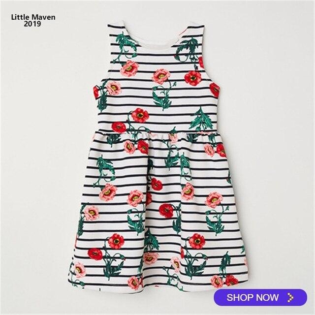 54e7103d0 Little Maven 2019 Summer New Sleeveless Kids Girls Clothes Children ...