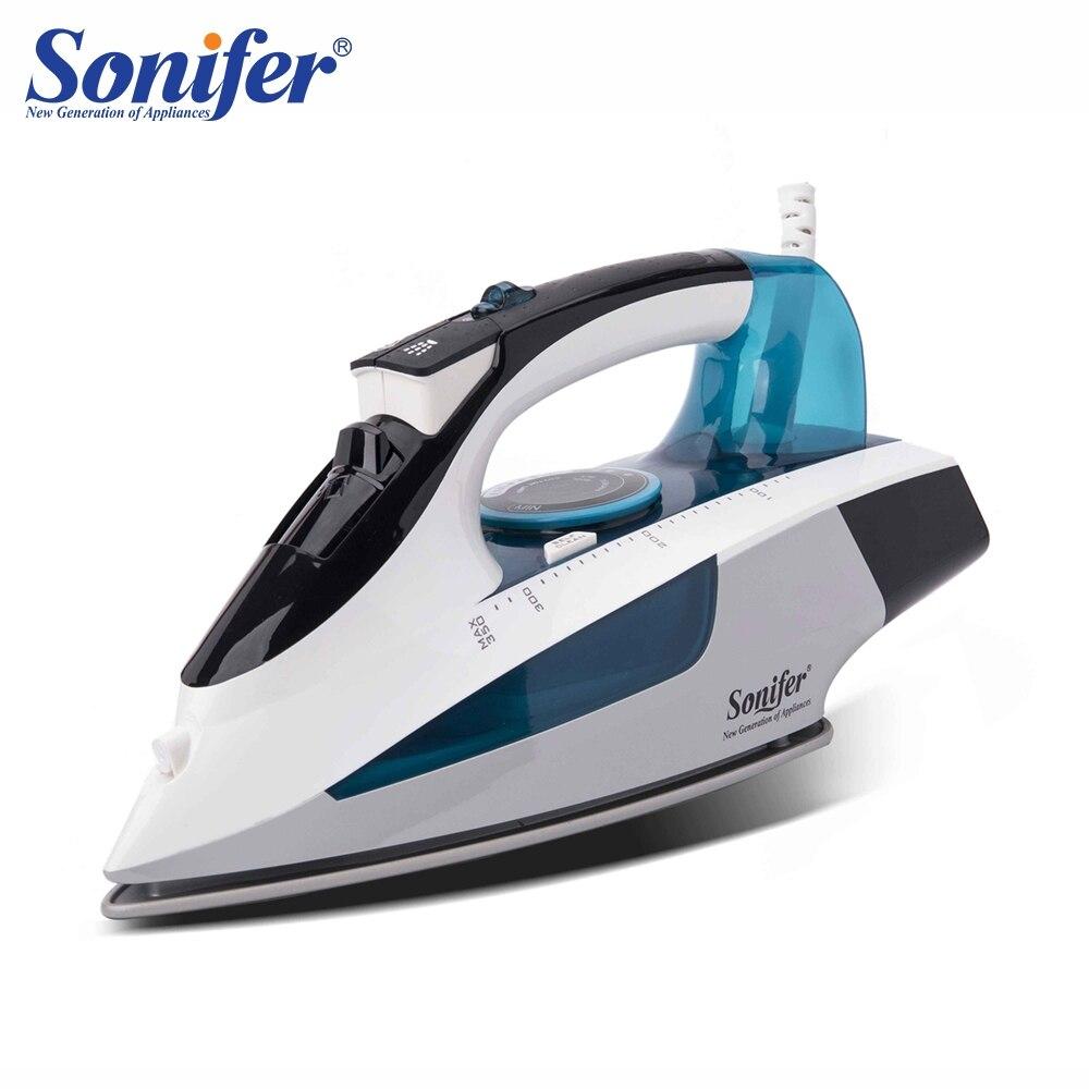 2400 Вт Портативный электрический утюг с паром для одежды Высокое качество керамика soleplate три шестерни 220 В Sonifer