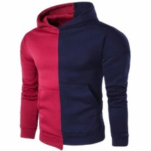 2019 new polyester-cotton stitching mens casual hoodies fashion street sweatshirt overwatch men Hot Sale