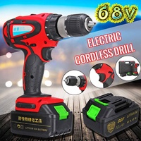 1Pcs 68 V Max Electric Screwdriver Cordless Drill Mini Wireless Power Driver AC Lithium Ion Battery 2 Speed