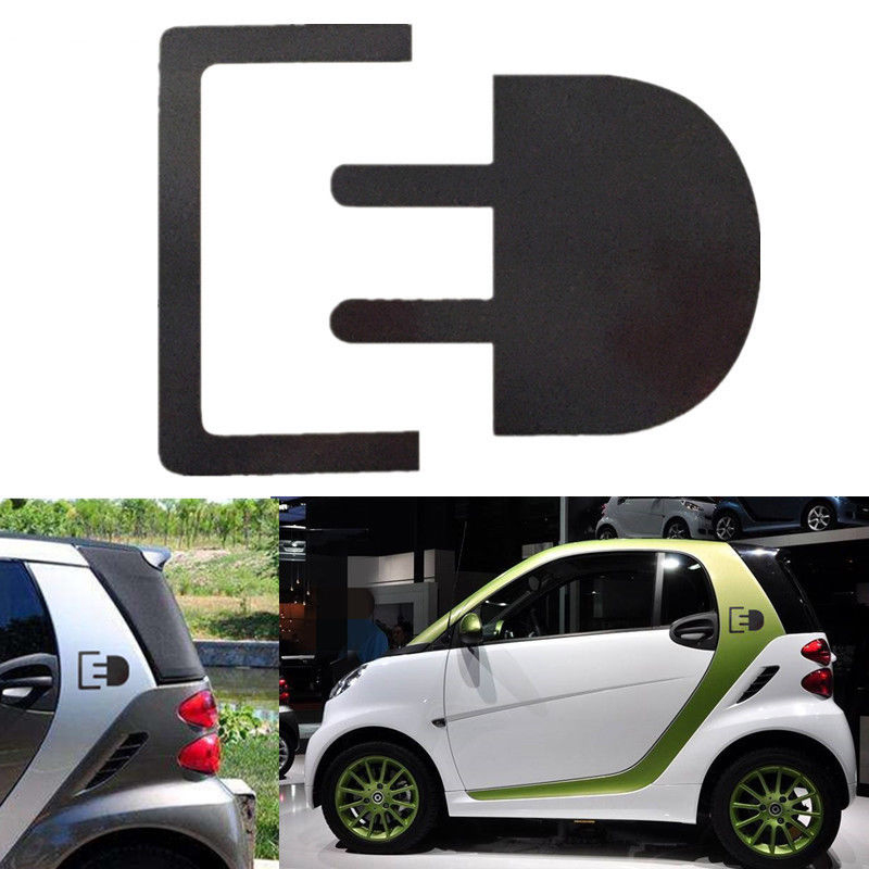 For Car Sticker Electric Charge Plug Emblem Badge Decal Fashion Personality Creativity Rear Window Car Sticker in Car Stickers from Automobiles Motorcycles