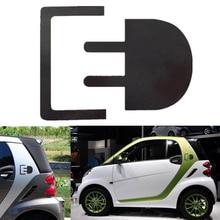 For Car Sticker Electric Charge Plug Emblem Badge Decal Fashion Personality Creativity Rear Window