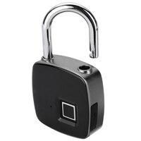 Mayitr Portable Keyless Locking USB Rechargeable Intelligent IP65 Digital Waterproof Security Padlock Luggage Door Box Lock