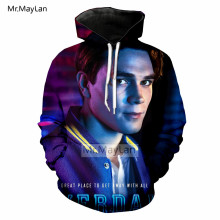 TV Riverdale 3D Print Character Archie Hoodie Men/Women Hiphop Streetwear Jacket Boys Cool Blue Tops Outfits Clothes 5XL 6XL