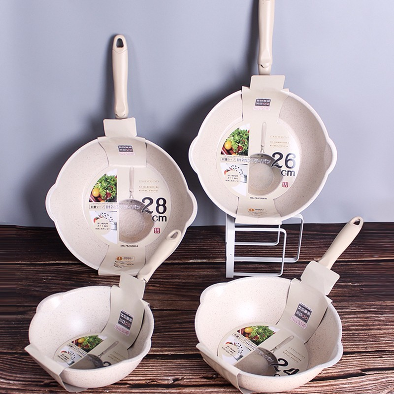 Medical Stone Thickened Bottom Non-Stick Frying Pan 2